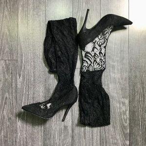 97bfb54d4b Nasty Gal Shoes - 9️⃣🍑 delicate danger lace stilleto boot